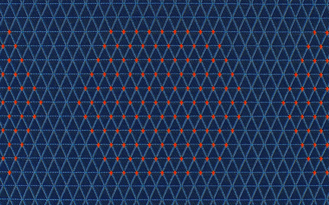 Dot Structure-931-55  Blue & Orange