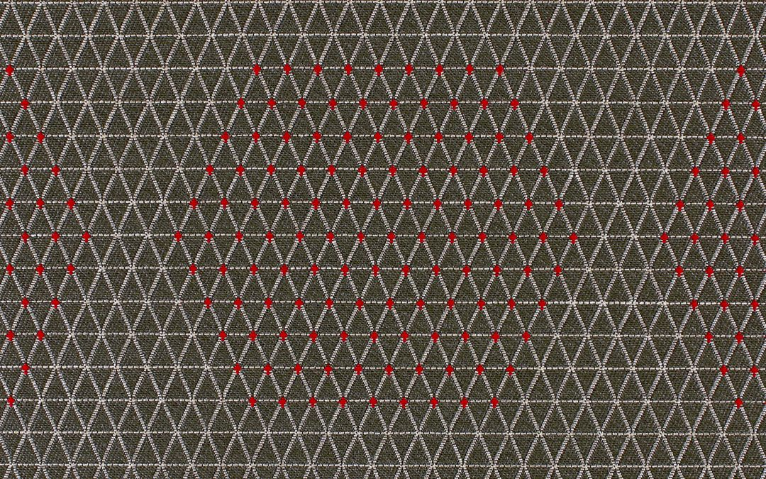 Dot Structure-931-84  Grey & Red