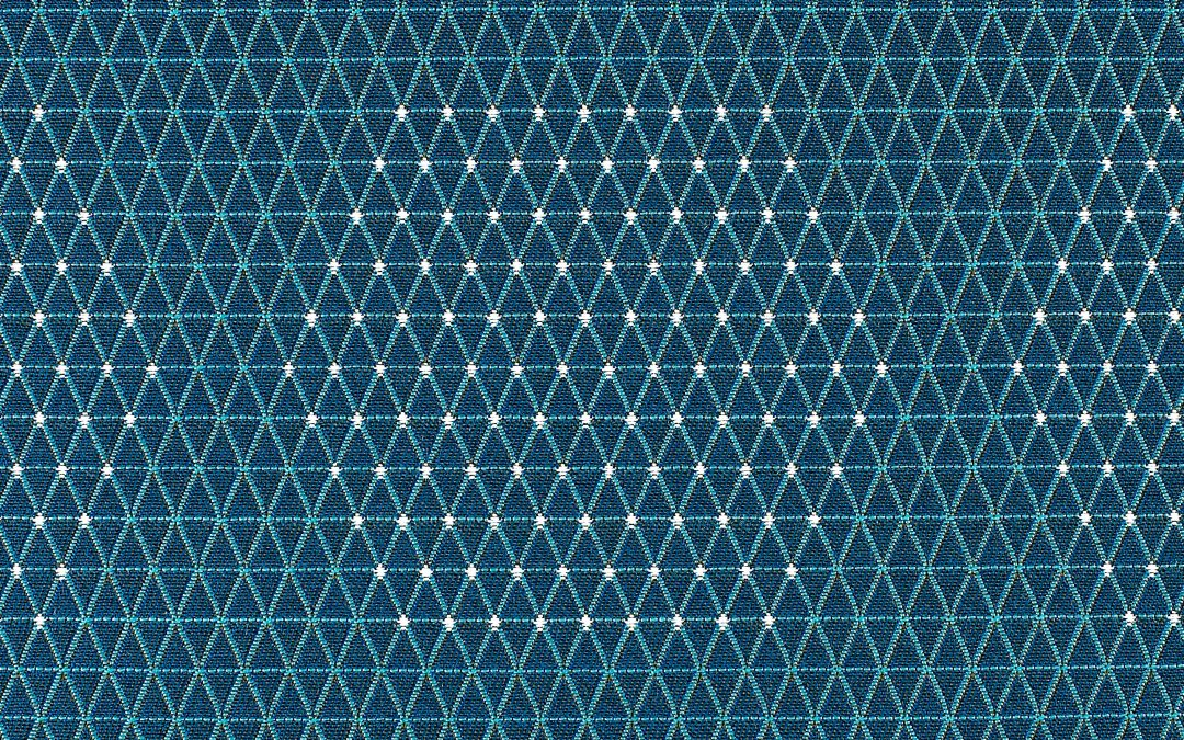Dot Structure-931-54  Aqua & White